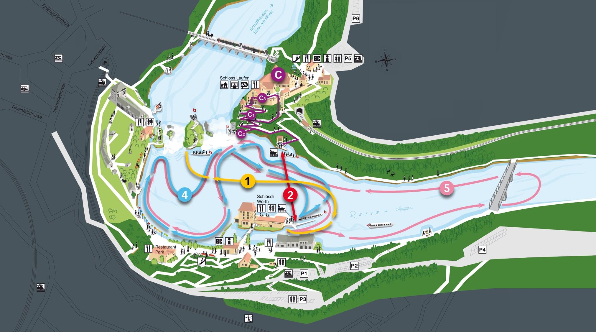 Rheinfall Schaffhausen Karte